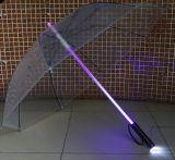 Guarda-chuva transparente colorido aberto do automóvel por atacado com lanterna elétrica