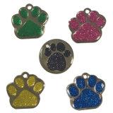 Les Paillettes métalliques personnalisées Paw Tag pour les animaux de compagnie de la décoration
