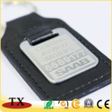 Förderndes Drucken-Aufkleber-Metallleder-Schlüsselkette für das Bekanntmachen mit kundenspezifischer Form