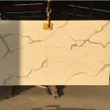 Laje de cristal artificial projetada material da pedra de quartzo da bancada para a decoração da cozinha