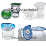 Máquina de enchimento de lavagem da selagem da película de rolo do copo da água