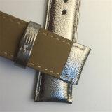 Tamanho personalizado de alta qualidade genuína de Prata Pulseiras de couro de vitelos