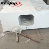 Melhor bancada de pedra artificial projetada branca pura de quartzo da falsificação da qualidade