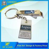 Ouvreur de bouteille plaqué en alliage de zinc personnalisé bon marché en métal pour la promotion