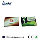 Bestseller-ultradünnes Geschäfts-Videokarte 2.8 Zoll für Bussiness