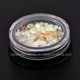 Spijkers Accessoires van de Schoonheid van de Doos van de Juwelen van de Spijker van de Parels DIY van de Bergkristallen van de Kristallen van de Spijker van de Decoratie van de Kunst van de spijker de 2018 Gemengde 3D (nr-21)
