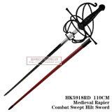 La spada Commanding spagnola Rapiercombat medioevale ha scopato la spada 110cm HK5918rd dell'elsa