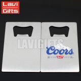 Logo personnalisé forme ouvre-bouteille de carte de crédit, carte d'affaires de métal décapsuleur