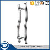 Doppia maniglia di vetro parteggiata di tiro del portello dell'acciaio inossidabile 304 per il portello di legno