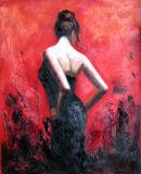 Reproductie van het Fabian-Olieverfschilderij van de Danser van Perez Flamengo