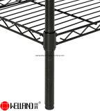 Durabilidad 3 estantes de alambre de metal negro cubierta de la cocina de cuchara de la despensa Organización Rack