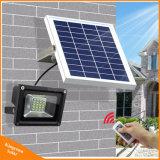 Lumière d'inondation extérieure solaire de la lampe de mur de garantie 20 DEL