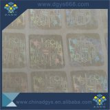 Baratos personalizados fácil dañado Holograma Transparente adhesivo láser