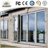 Portes en verre en plastique de tissu pour rideaux de la fibre de verre bon marché UPVC/PVC des prix d'usine de qualité avec des intérieurs de gril à vendre