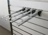 Supporto della parentesi di mensola del metallo di Slatwall per le mensole di legno