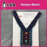 Шнурок ворота цветастого деревянного цветка ожерелья способа Handmade национальный для одежды