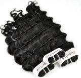 インドの深い波の小売商(等級9A)のための加工されていないバージンの毛