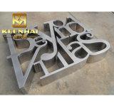 ブラシをかけられた3Dステンレス鋼の文字は金属の文字の表記に署名する