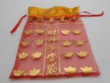 Organzadrawstring-Geschenk-Beutel, nichtgewebter Schmucksache-Verpackungs-Beutel (GZHY-dB-002)