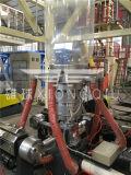 ABC del PE de 1100m m 3 capas de la coextrusión de la máquina que sopla de la película con la devanadera de la fricción y el regulador dobles de Weighter