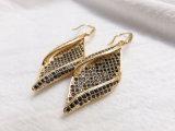 형식 물고기 훅 실제적인 금 도금 입방 Zircone 귀걸이