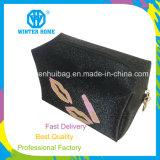 Form-quadratischer Metallfirmenzeichen-Qualitäts-Kosmetik-Beutel