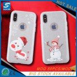 Achat en bloc de petite MOQ caisse brillante de téléphone de bonhomme de neige de la Chine pour Huawei P10
