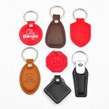 De cuero rojo chino de llavero RFID para regalo de Navidad
