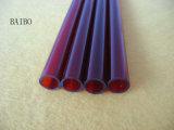 Tubo de vidrio de Cuarzo de color rojo oscuro