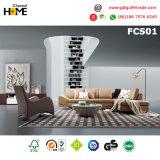 Sofà di cuoio sezionale del salone moderno (FCS01)