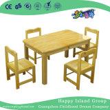 Meubles de la maternelle Les enfants Jeux de table et chaises en bois avec bureau double (HG-3802)
