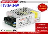 Alimentazione elettrica di commutazione del driver 12V 2A 25W del LED per illuminazione del LED