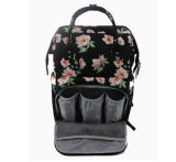 China la moda de bebé Flor impresa pañal Pañales momia Bolsa mochila