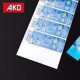 Het voorgedrukte Blauwe Glanzende Enige ZijEtiket van de Sticker van de Laag BOPP Zelfklevende