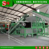 Planta de borracha em escala reduzida automática do Mulch que esmaga e que recicl a sucata/pneu Waste