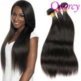 100% natural de fábrica de cabelo humano puro brasileiro um cabelo liso