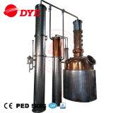 equipo de destilación del acero inoxidable de 500L 1000L todavía del crisol del whisky de cobre rojo para la venta