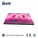 Очень красивый дизайн 10,1-дюймовый ЖК-дисплей цифрового видео брошюра для бизнеса/подарок или приглашение