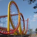 De openlucht Achtbaan van Vier Ringen van de Speelplaats Grote in Pretpark