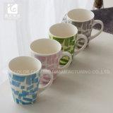 고객의 디자인 사각 바닥 세라믹 커피잔 11oz