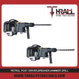 Thrall DHD-58 휘발유 차단기, 끌을%s 가진 회전하는 망치
