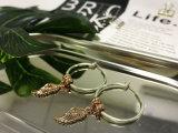혼합 도매 최신 매매 14K 의 18K 금 도금은 펀던트 원형 귀걸이를 공중을 난다