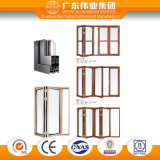 Aluminio de Weiye China/aluminio modificado para requisitos particulares surtidor/puerta BI-Plegable de Aluminio