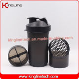 bottiglia di plastica dell'agitatore della proteina 600ml (KL-7004D)