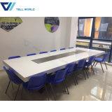 출구 경제 회의 테이블 최상 아름다운 인공적인 돌 백색 회의장