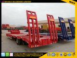 무거운 장비와 굴착기 수송을%s 사용된 3대의 차축 낮은 침대 반 트레일러 또는 사용된 트럭 트레일러