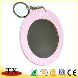 Bester verkaufender täglicher Gebrauch-Leder-Verfassungs-Spiegel mit Schlüsselketten-und Kosmetik-Spiegel-Schlüsselring