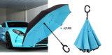 2018의 반전 우산 겹켜 견주 직물 성인 우산 C 훅 손잡이 차 우산 방풍 Parapluie