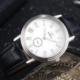 Relógio de pulso personalizado logotipo de quartzo da liga da cinta Z297 de couro para homens