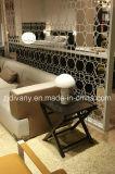 Mobilia di cuoio del sofà (D-80)